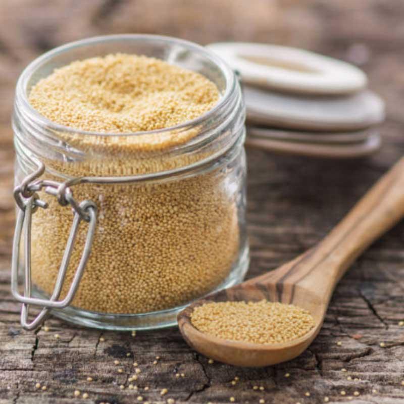 Amaranto en grano en semilla.